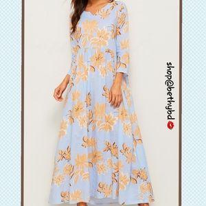 🆕️Just In➡️Summer's End Floral Blue Maxi Dress